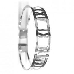 Pulsera-brazalete en plata de ley personalizable hecho a mano