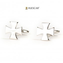 Gemelos cruces de plata