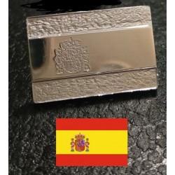 Pin bandera de españa en plata de ley