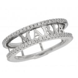 anillo con nombres plata