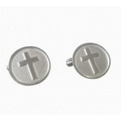 gemelos cruz de plata