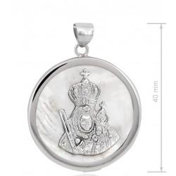 medalla de la Virgen de la cabeza plata de ley