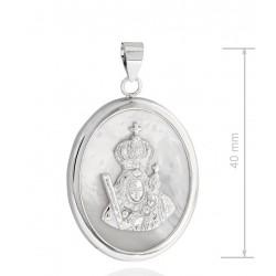 Medalla Virgen de la Cabeza plata y nácar