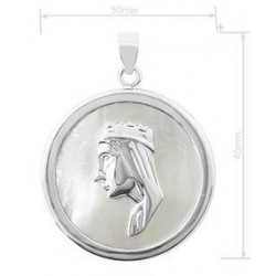 medalla de la Virgen de Monserrat