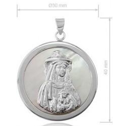 medalla virgen del rocio pastora