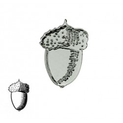 pin bellota de plata