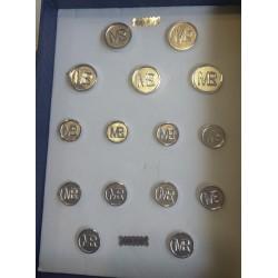 Botones de plata personalizados