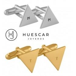 gemelos triangulos de plata