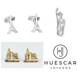 Gemelos personalizados con monumentos famosos