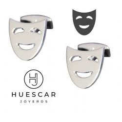 Gemelos Máscaras en plata de ley