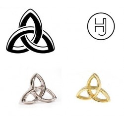 pin de plata simbolo celta