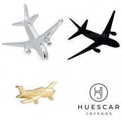 pin avion de plata