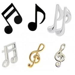 Pins de notas musicales