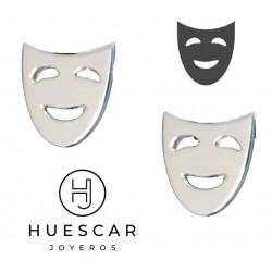 pins de mascaras de plata