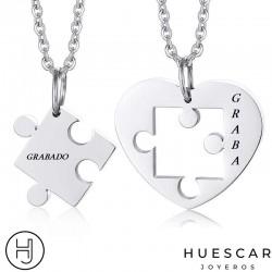 colgantes puzzles de plata
