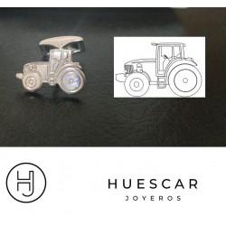 Gemelos tractor plata de ley