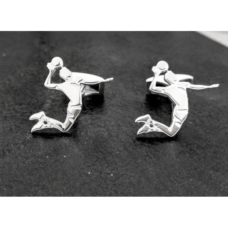 Gemelos voleibol plata de ley fabricación artesanal