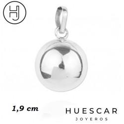 Colgante de llamador de angel en plata con bola interior de metal