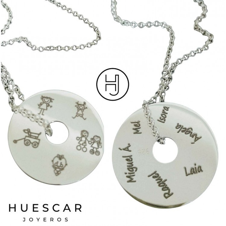 Collar de plata con donut personalizado
