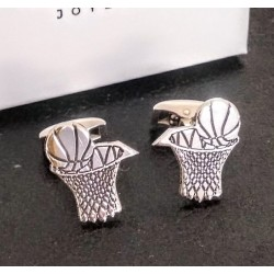 Gemelos baloncesto personalizados en plata de ley